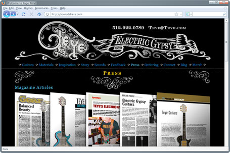 web design project